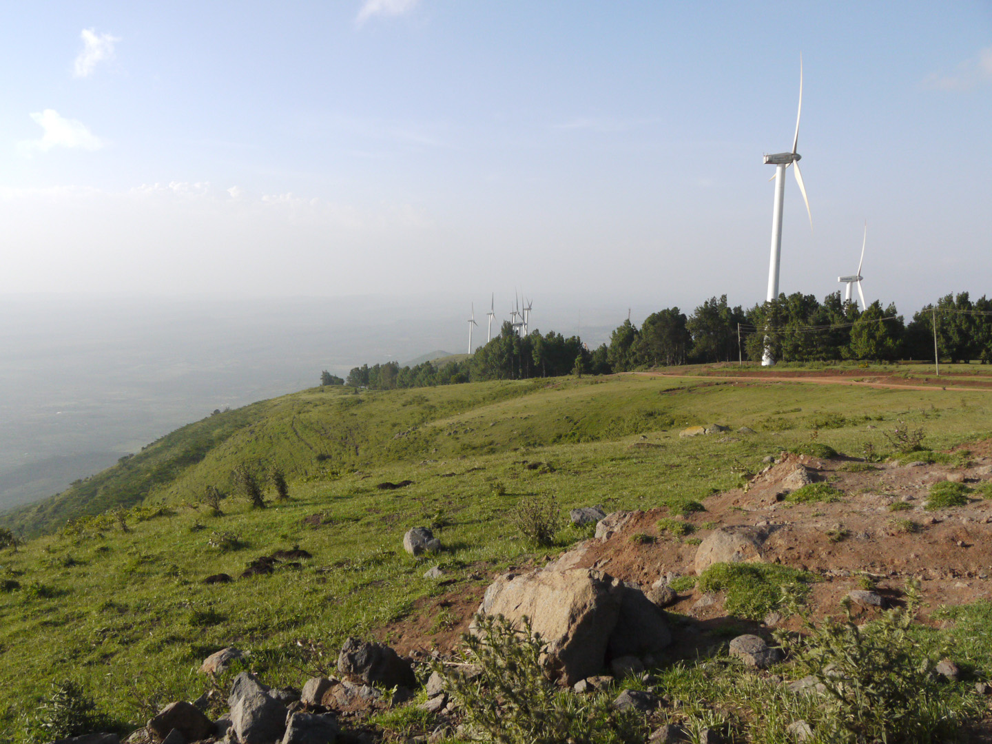Ngong hills with turbines